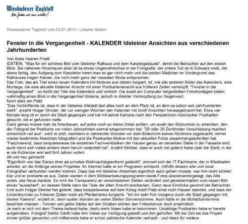 Idsteiner Zeitung / Wiesbadener Tagblatt 03.01.2014