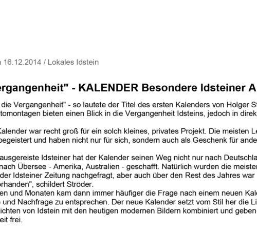 Idsteiner Zeitung / Wiesbadener Tagblatt 16.12.2014