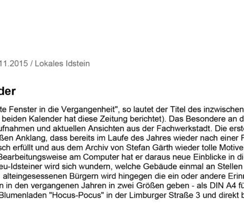 Idsteiner Zeitung – 20.11.2015
